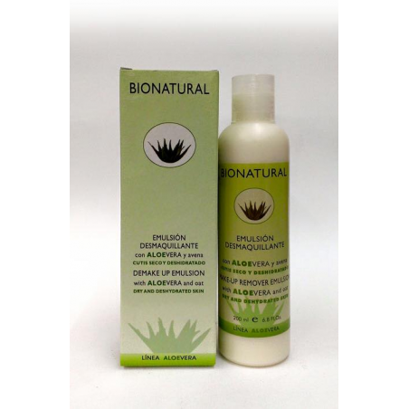 EMULSION DESMAQUILLANTE CON ALOE Y AVENA (200 ml)