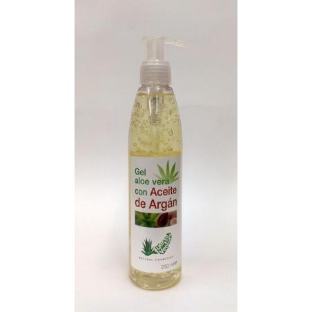 Gel Aloe Vera 100% + Argán 250ml con dosificador