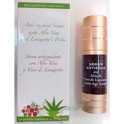 ANTIOXIDANT FACIAL SERUM WITH ALOE + LANZAROTE WINE 30 ml