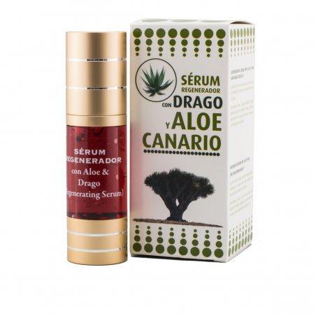 SERUM FACIAL REGENERADOR CON ALOE Y DRAGO CANARIO (30 ml)