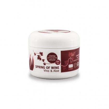 CREMA FACIAL ANTIOXIDANTE DE VINO + ALOE SPRING OF WINE 100 ml