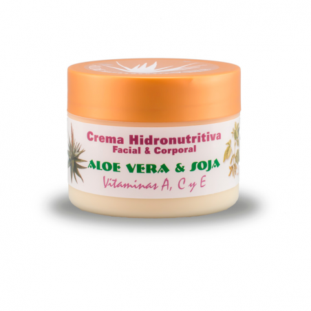 FACIAL AND BODY HYDRONOURISHING CREAM ALOE + SOYA + VITAMINS 250 ml